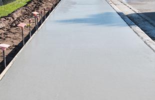 Строительство (устройство) бетонных тротуаров и дорожек
